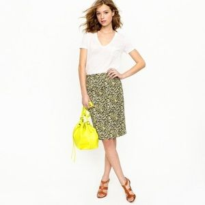 J.crew No.2 pencil skirt in Abstract leopard